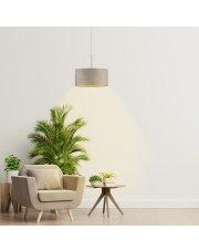 Lampa welurowa szara SINTRA VELUR fi - 30 cm