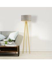 Lampa salonowa na drewnianych nogach MIAMI VELUR