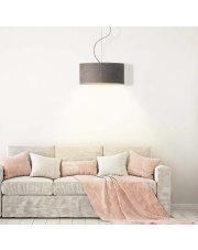 Lampa wisząca z regulacją wysokości HAJFA VELUR fi - 40 cm - kolor szary