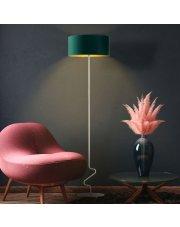 Lampa podłogowa JERSEY GOLD z cylindrycznym abażurem