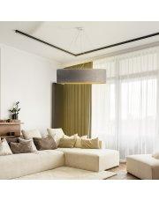 Lampa wisząca PORTO VELUR fi - 80 cm - kolor szary ze złotym wnętrzem