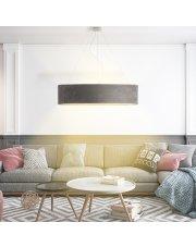 Designerska lampa wisząca PORTO VELUR fi - 100 cm - kolor szary