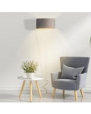 Lampa stojąca z cylindrycznym, welurowym abażurem JERSEY VELUR
