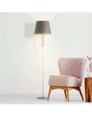 Lampa podłogowa z welurowym abażurem SEUL VELUR