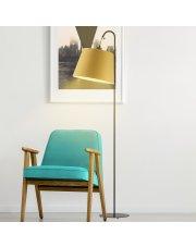 Musztardowa lampa podłogowa TALLIN