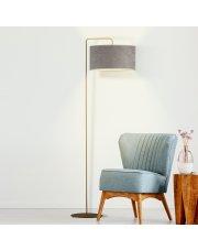 Szara lampa podłogowa BOLIVIA VELUR
