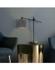 Nowoczesna lampka na nocny stoli BELO GOLD - złote wnętrze
