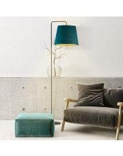 Lampa podłogowa RIJAD VELUR z abażurem w kształcie stożka