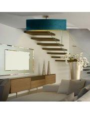 Lampa sufitowa do salonu GRENADA VELUR  fi - 80 cm - kolor zieleń butelkowa ze złotym wnętrzem