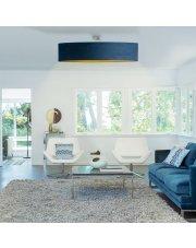 Plafon ze złotym wnętrzem GRENADA VELUR fi - 100 cm - kolor morski ze złotym wnętrzem