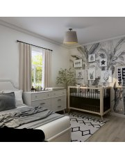 Designerska plafoniera KAIR VELUR - kolor szary ze złotym wnętrzem