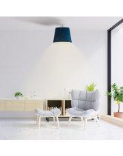 Oświetlenie sufitowe w stylu glamour KAIR VELUR - kolor morski