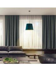 Ozdobna lampa wisząca do salonu SARI VELUR - kolor zieleń butelkowa