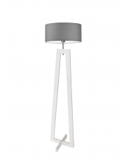 Lampa drewniana podłogowa BALI
