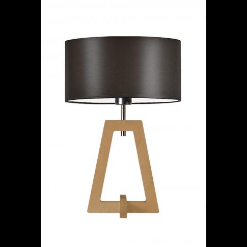 nowoczesne lampy stołowe z elementami drewna