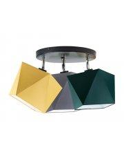 Lampa sufitowa MINORKA z abażurami w kształcie diamentów