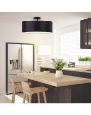 Lampa sufitowa do kuchni WENECJA fi - 50 cm - kolor czarny