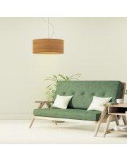 Lampa wisząca do sypialni HAJFA ECO fi - 40 cm - kolor dąb sonoma