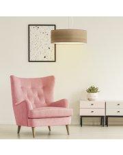 Nowoczesna lampa wisząca do salonu HAJFA ECO fi - 50 cm - kolor orzechowy