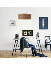 Lampa wisząca z fornirowym abażurem SINTRA ECO fi - 40 cm - kolor orzechowy