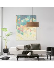 Lampa sufitowa wisząca SINTRA ECO fi - 50 cm - kolor orzechowy