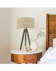 Nowoczesna lampka nocna SABA ECO z drewnianym abażurem