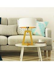 Lampa stołowa z abażurem CLIO GOLD