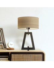 Drewniana lampka nocna z abażurem CLIO ECO