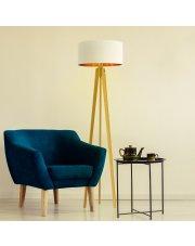 Nowoczesna lampa do salonu z włącznikiem nożnym MIAMI GOLD