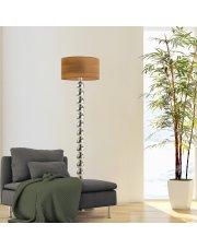 Lampa stojąca GIZA ECO z fornirowym abażurem w kształcie walca