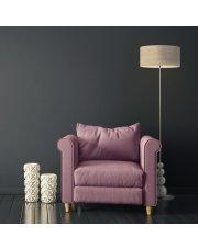 Srebrna lampa podłogowa ROMA ECO z ozdobnymi kulami