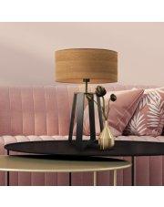 Lampa stołowa do salonu THOR ECO z fornirowym abażurem