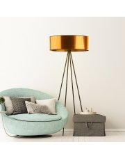 Lampa podłogowa z nowoczesnym abażurem IBIZA MIRROR