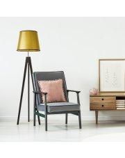 Drewniana lampa podłogowa ARUBA MIRROR