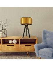 Drewniana lampka nocna z abażurem SABA MIRROR