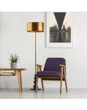 Nowoczesna lampa do salonu z włącznikiem nożnym ROMA MIRROR