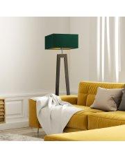 Drewniana lampa stojąca JAWA GOLD
