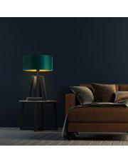 Designerska lampka nocna z abażurem THOR GOLD