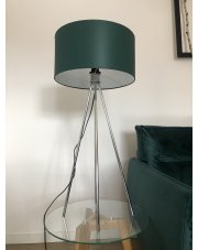 Nowoczesna lampa do salonu z włącznikiem nożnym  Stelaż chrom