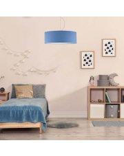 Lampa wisząca do pokoju dziecięcego HAJFA fi - 50 cm - kolor niebieski