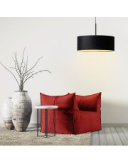 Lampa wisząca do salonu SINTRA fi - 50 cm - kolor czarny