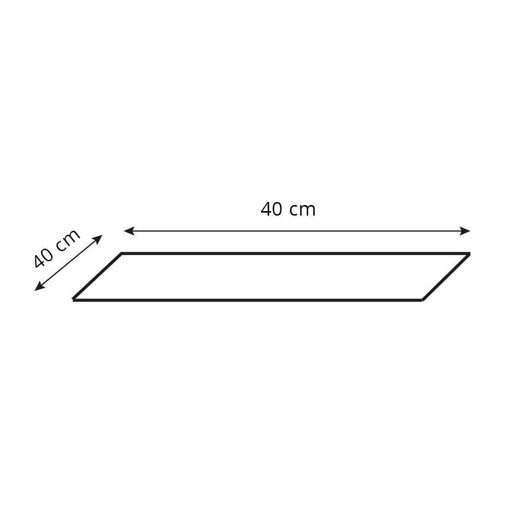 Põhi lambi jaoks varju KWADRAT 40x40x20