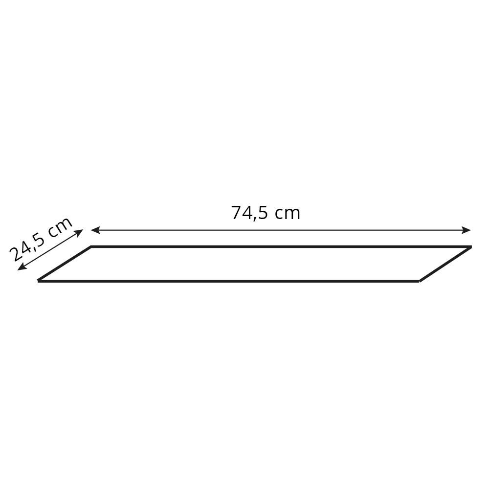 Valgusvarjuga lambi põhi PROSTOKĄT 74,5x24.5x25