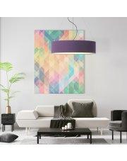 Nowoczesna lampa wisząca PORTO fi - 80 cm - kolor fioletowy