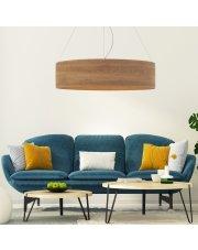 Lampa wisząca do salonu PORTO ECO fi - 100 cm - kolor orzechowy