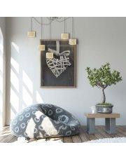 Lampa wisząca z diamentowymi abażurami KANO